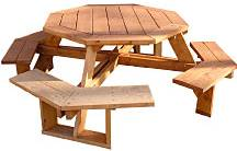 free octagon picnic table woodworking plans